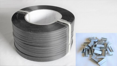"Poly Strapping 1/2"" x 0.31"" 8x8 core 600Lbs Hand Grade + 300pcs 1/2 Open Seal"