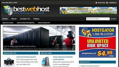 Web Host  Niche Blog In Demand Turnkey Affiliate Free Installation Hosting