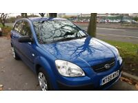 KIA RIO 1.5 DIESEL, 55 REG.5 DR.BLUE,LADY OWNED,A/C,11 MONTHS MOT,FSH,EXC. DRIVER,HPI CLEAR