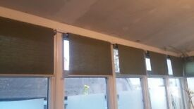 9 Roller blinds (600 wide x 1192 long), were used in conservatory