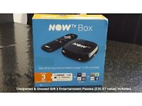 Brand New & Unused Now Tv Box (Sky) - FREE **3** Month Pass In The Packaging