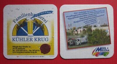 Bierdeckel Familienbrauerei Kühler Krug, Karlsruhe
