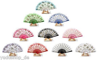 Handfächer Fächer Dekofächer Tanzfächer Glitter Motive Farbe mit - Tanz Kostüme Dekorationen