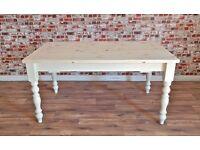 Painted Farmhouse Pine Dining Table / Extending Table - Farrow & Ball - Huge Range of Bespoke Sizes