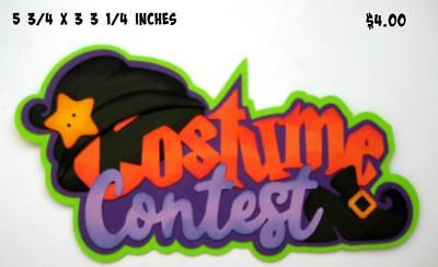 COSTUME CONTEST TITLE Halloween  scrapbook premade paper piecing by Rhonda](Costume Contests)