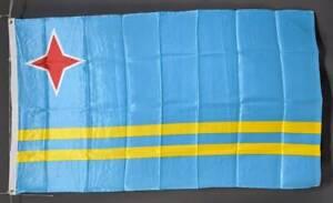 Aruba flag: printed polyester. 150 x 90 cm/ 5x3'. Brand new Marrickville Marrickville Area Preview