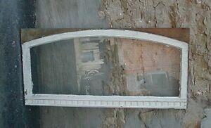 "transom window w dentil moulding - arched top, 48 1/4"" w"