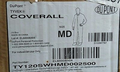 2 Dupont Tyvek M Medium Disposable White Protective Suits