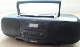 Sony CFD 380L Stereo Twin Cassette CD boombox