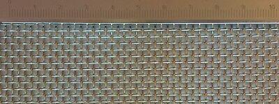 Edelstahl Drahtgeflecht mit 1,8mm Maschenweite, 0,8mm Drahtstärke, 100cm x40cm