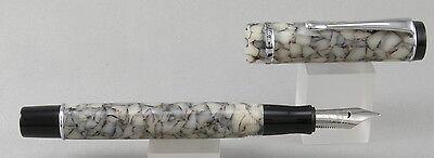 Conklin Duragraph Cracked Ice & Chrome Fountain Pen - Stub Nib - NEW!