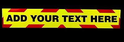 Fluorescent Magnetic Warning Sign (Add Your Own Text)