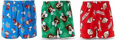 Men's Boxers Short Buddy the Elf, Peanuts, National Lampoons a Christmas Story ()