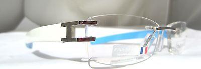 Tag Heuer L Type TH 0116 007 Rimless Eyeglasses White Blue Frame France New
