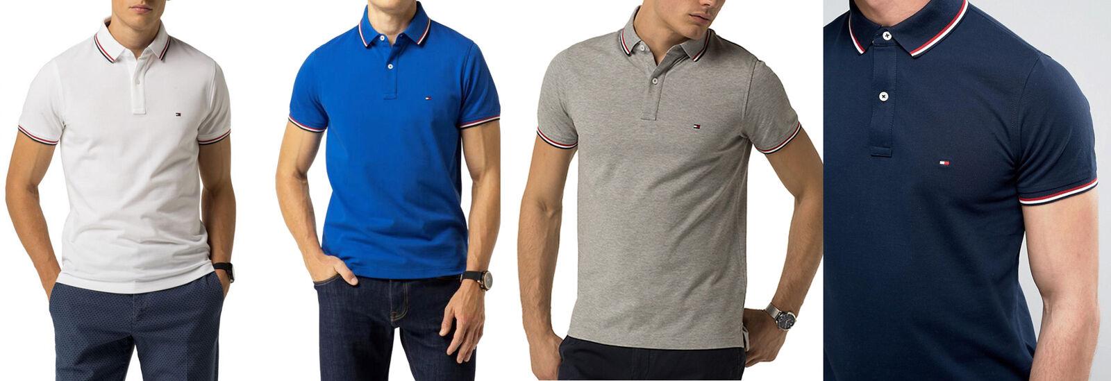 Tommy Hilfiger Herren Poloshirt Tipped Hemd Kurzarm shirt Classic Fit S-XXL OVP