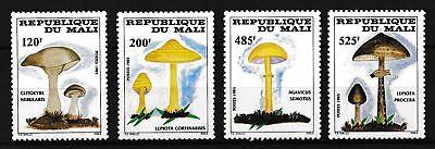 MALI, SC 516-519, 1985 Mushroom issue, complete set of 4. MNH. CV $20