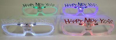 Happy New Years Blinking Glasses - New Year Themed Light Up Party Shades (Happy New Year Glasses)