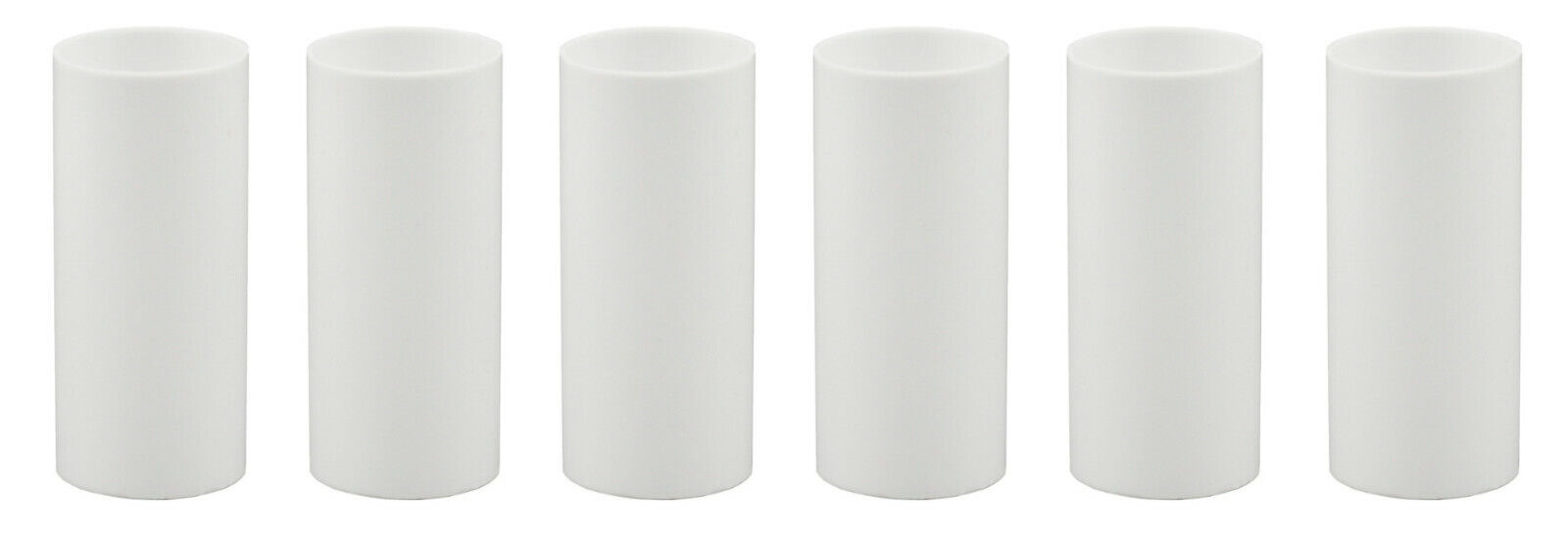 2 Inch Tall White Plastic Candle Cover For Candelabra Base Lamp Sockets, 6 Pack Collectibles