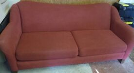Large Two Cushion Raspberry Trend-Line Sofa