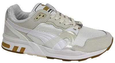 Puma Trinomic XT 2 Mens Trainers White Gold Mesh Lace Up 358138 02 D71