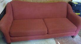 Large Two Cushion Raspberry Trend-Line Sofa