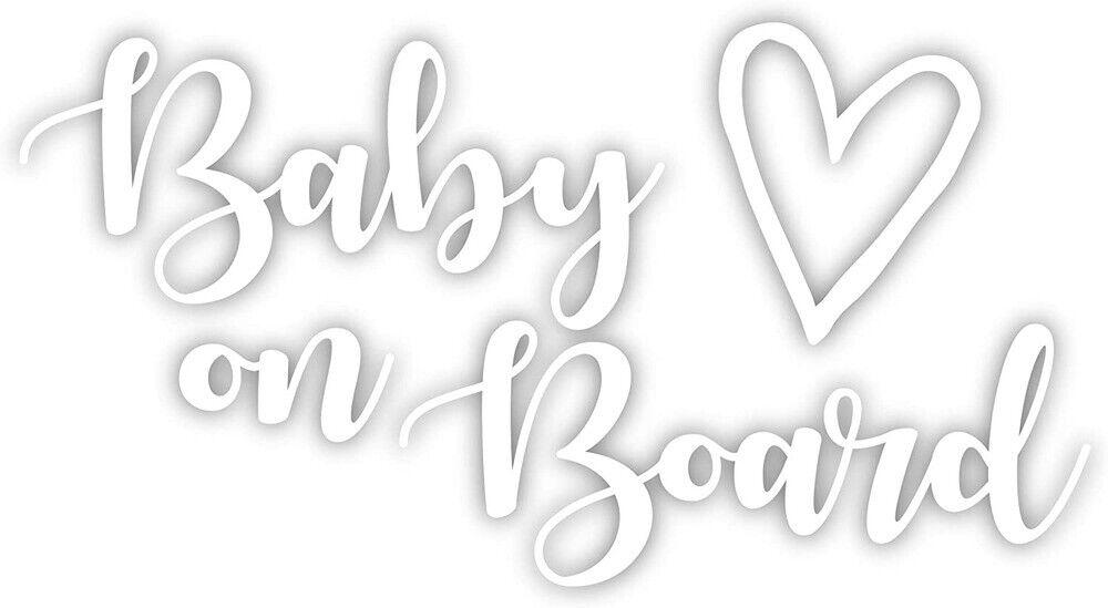 2pcs cutr baby on board vinyl decal