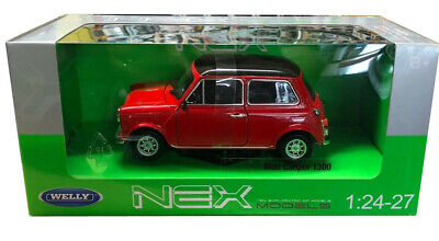 Welly 1/24 Scale Red Mini Cooper 1300  Diecast Car Model  22496RD