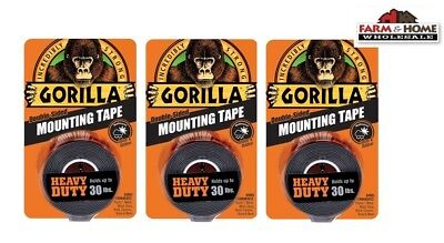 Gorilla Mounting Tape Double-sided 30lbs New