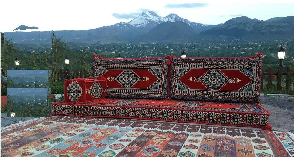 4 pcs Turkish Ottoman Cushion pillows Lounge Couch Sofa Corner Cover Set Palace 6
