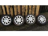 Peugeot alloy wheels and tyres 4 x 108.