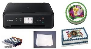 Edible Photo Cake Printer Bundle - Canon TS Wireless All-in-One, Edible Ink Set, and 25x Artisan Frosting Sheets