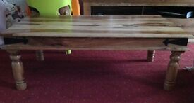 Solid wood coffee table. Collect only