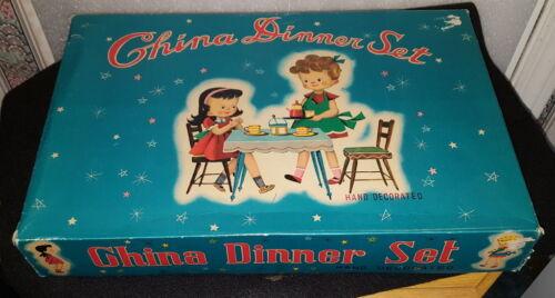 Vintage Childs Dish Set - Original Box
