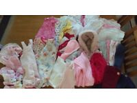 Large bundle baby girls clothes inc. tiny baby, newborn, 0-3m