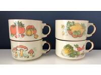 Vintage (1970s/1980s) Soup Bowls/Soup Mugs