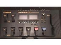 BOSS GT-100 version 2 COSM AMP EFFECTS PROCESSOR
