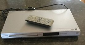 Philips Silver DVD Player with Remote Control. PWO!