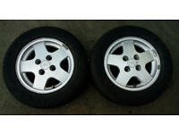 FORD FIESTA ALLOYS WITH TYRES 185 / 65/ 14