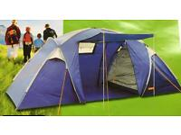 Halfords 4 person, 2 bedroom tent with 2 sleeping bags