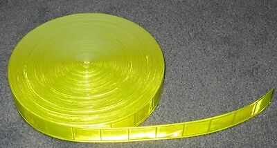 50-yard Roll Lime Gloss Sew On Reflective Tape Pvc 1