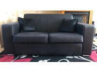 Suede sofa. 2 seater