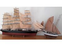 BILLINGS BOATS MODEL CUTTY SARK - SCALE 1:75 AND BILLINGS BOATS FRENCH FISHING VESSEL