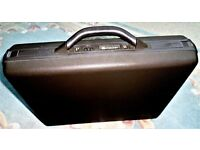 Delsey Hard Shell Briefcase combination lock black