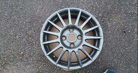 "4 Ford Fiesta Zetec S alloy wheels 15"""