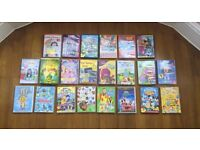 Children's DVD collection includes Mickey Mouse, C Beebies, Milkshake and Tinkerbell