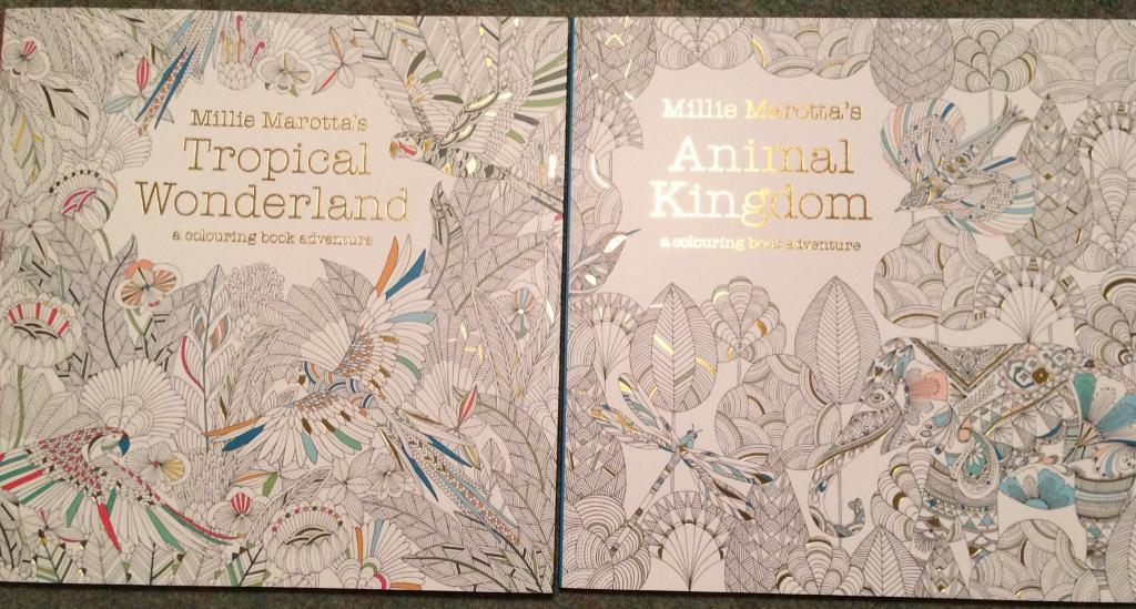 Colouring books by Millie Marotta