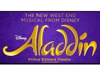 Aladdin theatre tickets x3