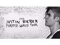 **JUSTIN BIEBER** 2 x standing Justin Bieber tickets - 18th October - Barclaycard Arena, Birmingham