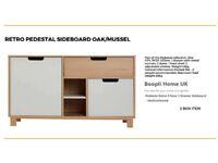 RETRO PEDESTAL SIDEBOARD - OAK