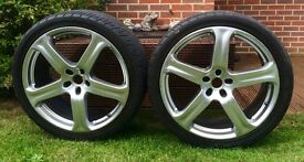 "4 x 22"" Revere WC1 Silver Alloy Wheels - Audi Q7, Porsche Cayenne, VW Touareg"